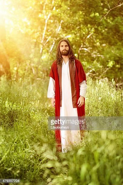 Christ Walking In The Garden Of Eden