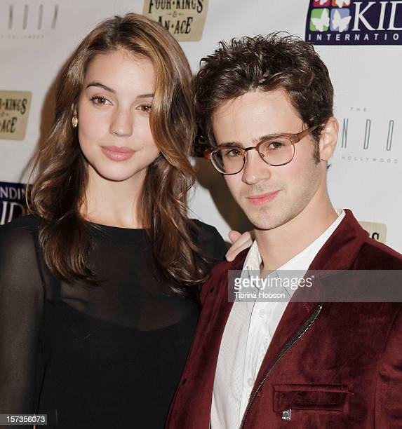 Christa B Allen and Connor Paolo attend the Mending Kids International celebrity poker tournament at The London Hotel on December 1 2012 in West...