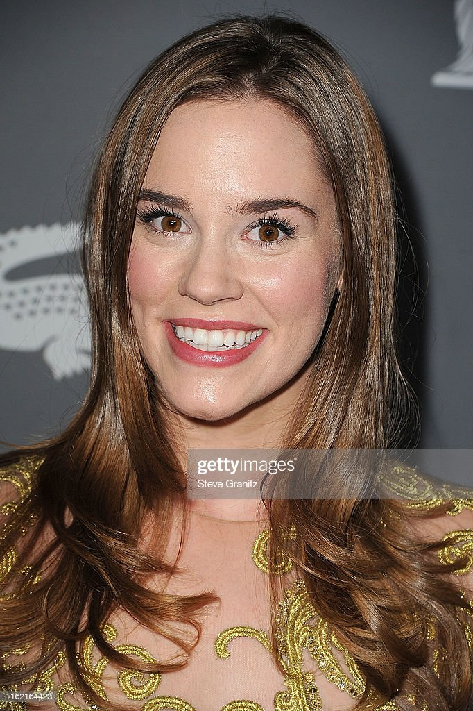 Christa B. Allen arrive at the 15th Annual Costume Designers Guild Awards at The Beverly Hilton Hotel on February 19, 2013 in Beverly Hills, California.
