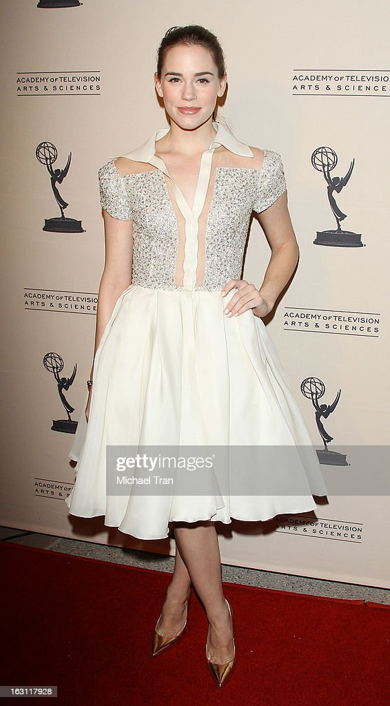 Christa B. Allen arrives at The Academy of Television Arts & Sciences presents an evening with 'Revenge' held at Leonard H. Goldenson Theatre on March 4, 2013 in North Hollywood, California.