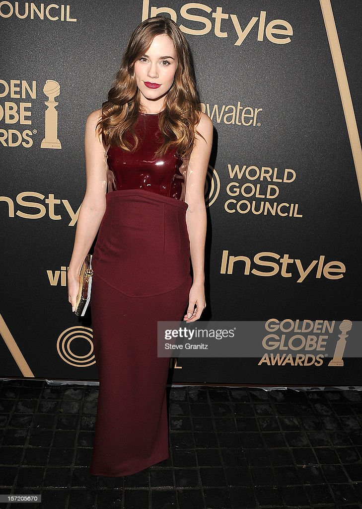 Christa B. Allen arrives at the The Hollywood Foreign Press Association And InStyle Miss Golden Globe 2013 Party on November 29, 2012 in Los Angeles, California.