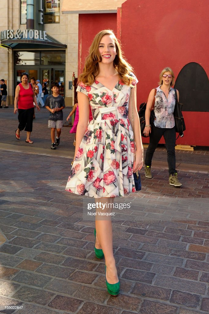 Christa B Allen is sighted at The Grove on October 30 2012 in Los Angeles California