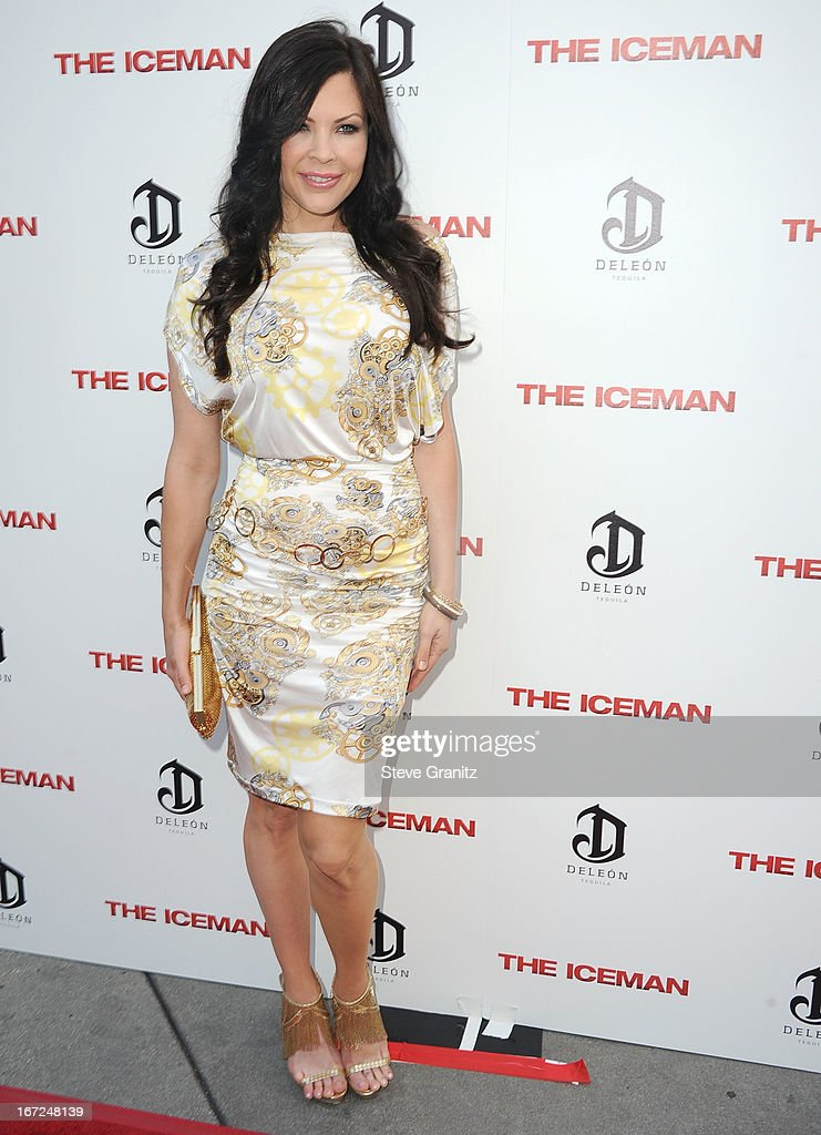 Christa Campbell arrives at the 'The Iceman' - Los Angeles Premiere on April 22, 2013 in Hollywood, California.