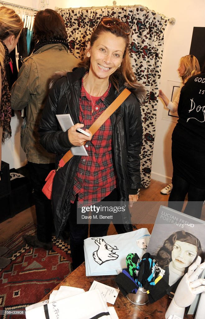 Christa D'Souza attends the launch of the Bella Freud pop-up boutique at Bicester Village on November 15, 2012 in Bicester, England.