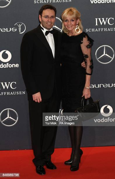 Christa Kinshofer and Ehemann Dr Erich Remback arriving for 2012 Laureus World Sports Awards at Central Hall Westminster Storey's Gate London