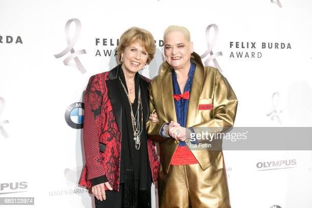 Christa Maar and German presenter Hella von Sinnen attend the Felix Burda Award 2017 at Hotel Adlon on May 14 2017 in Berlin Germany