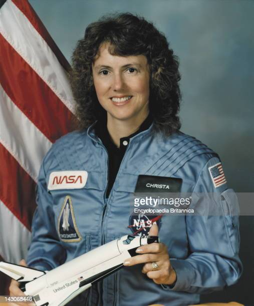 Christa Mcauliffe American Teacher Chosen To Be The First Private Citizen In Space Who Died With Her Fellow Crew Members In The 1986 Space Shuttle...