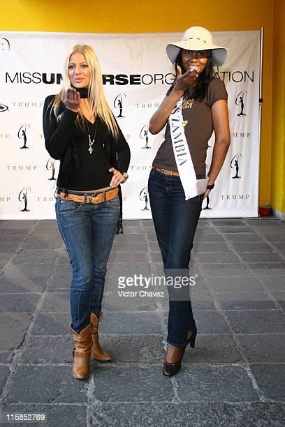 Christa Rigozzi Miss Universe Switzerland 2007 and Rosemary Chilse Miss Universe Zambia 2007