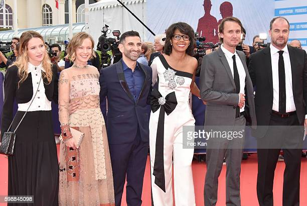 Christa Theret Diane Rouxel Kheiron Audrey Pulvar Jerome Bonneland Cedric Anger from the Kiehl's Jury attend the 'Infiltrator' Deauville Premiere as...