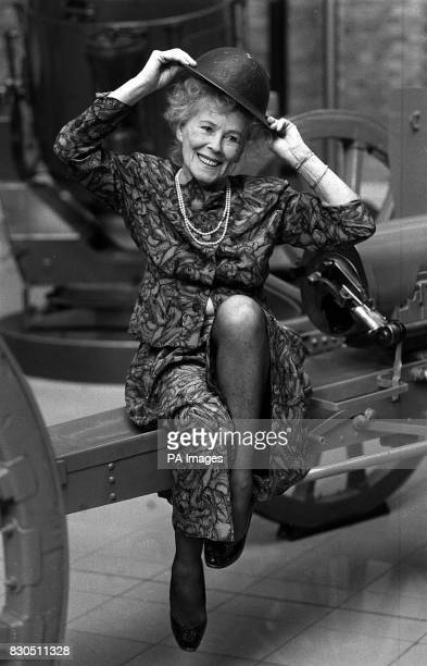 Christabel LeightonPorter who modelled for the original 'Jane' cartoon strip a Second World War morale booster for the troops at the Imperial War...