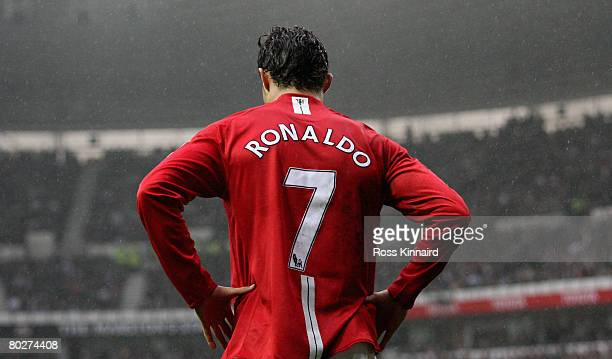 Christano Ronaldo of Manchester during the Barclays Premier League match between Derby County and Manchester United at Pride Park on March 15 2008 in...
