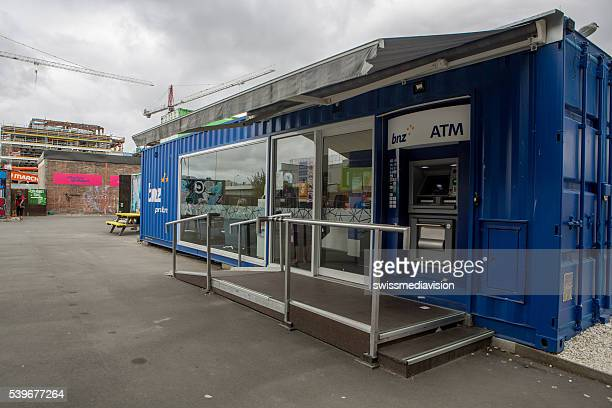 Christchurch: BNZ bank in the new shipping container shopping area