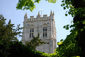 The tower of the church at Christchurch, Dorset.