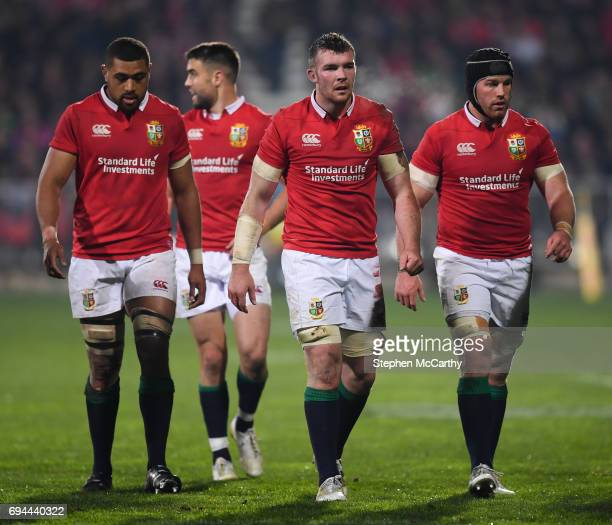 Christchurch New Zealand 10 June 2017 British and Irish Lions players from left Taulupe Faletau Conor Murray Peter O'Mahony and Sean O'Brien during...