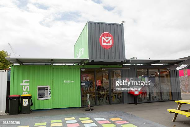 Christchurch: Post office in the new shipping container shopping area