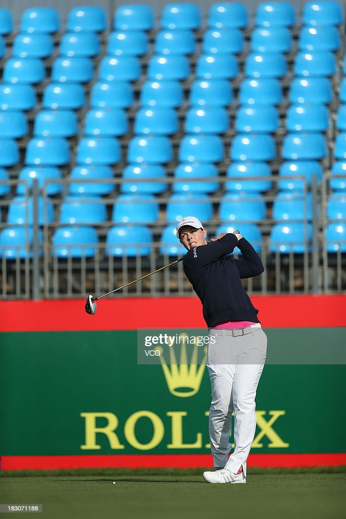 Christel Boeljon of Netherlands in action during day one of the 2013 Reignwood LPGA Classic on October 3 2013 in Beijing China