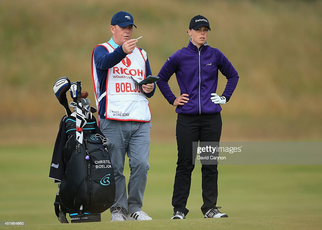 Christel Boeljon of the Netherlands waits on the 3rd hole during the first round of the Ricoh Women's British Open at Royal Birkdale on July 10 2014...