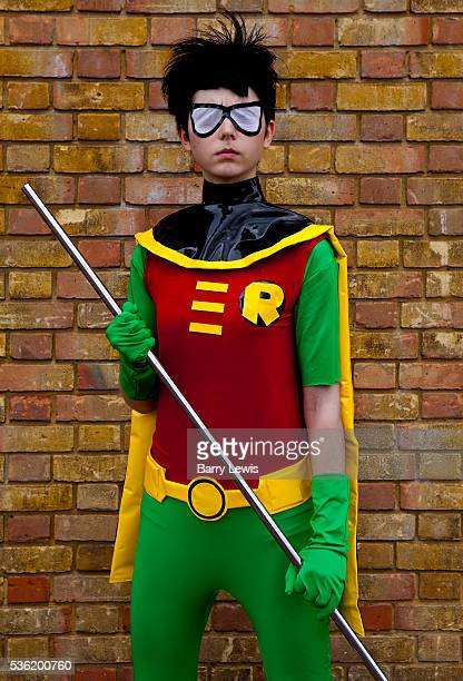 Christel Dee as Robin from Teen Titans attending the London Film and Comic Con LFCC is a convention held annually in London that focuses on films...