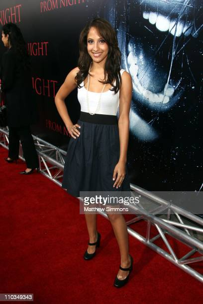 Christel Khalil attends the premiere of 'Prom Night' at the Arclight theatres on April 8 2008 in Los Angeles California