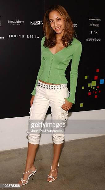 Christel Khalil during MercedesBenz Fall 2004 Fashion Week at Smashbox Studios Day 3 Arrivals at Smashbox Studios in Culver City California United...