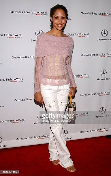 Christel Khalil during MercedesBenz Fall 2004 Fashion Week at Smashbox Studios Day 5 Arrivals at Smashbox Studios in Culver City California United...