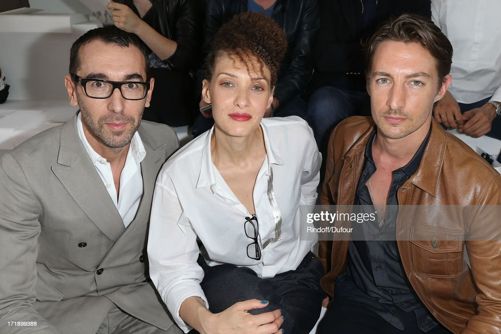 Christelle Saint Louis , Alessandro Sartori and Benn Northover attend Dior Homme Menswear Spring/Summer 2014 show as part of Paris Fashion Week on June 29, 2013 in Paris, France.