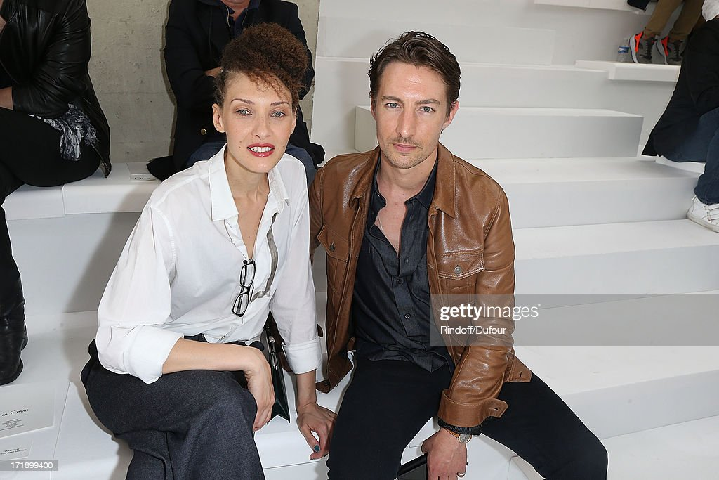 Christelle Saint Louis and Benn Northover attend Dior Homme Menswear Spring/Summer 2014 show as part of Paris Fashion Week on June 29, 2013 in Paris, France.