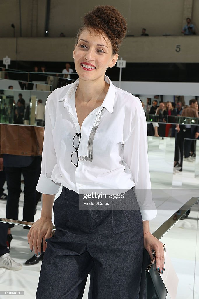 Christelle Saint Louis attends Dior Homme Menswear Spring/Summer 2014 show as part of Paris Fashion Week on June 29, 2013 in Paris, France.