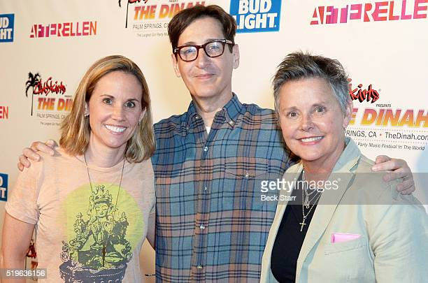 Christen Baker Stan Zimmerman and actress Amanda Bearse attend The Dinah 2016 at Palm Springs Convention Center on April 2 2016 in Palm Springs...