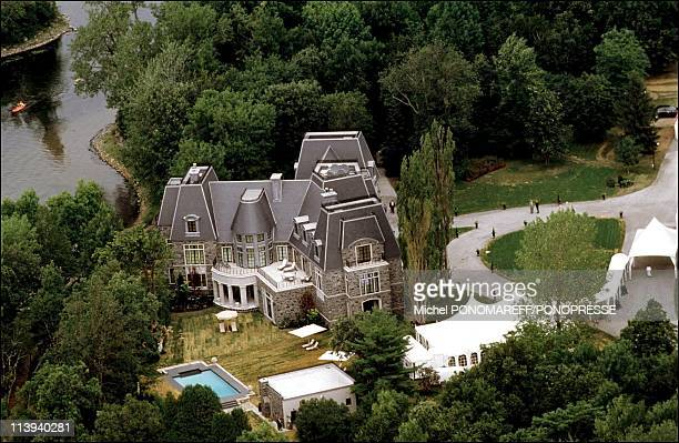 Christening of Rene Charles son of Celine Dion and Rene Angelil In Canada On July 25 2001Castle of Celine Dion on the Gagnon island