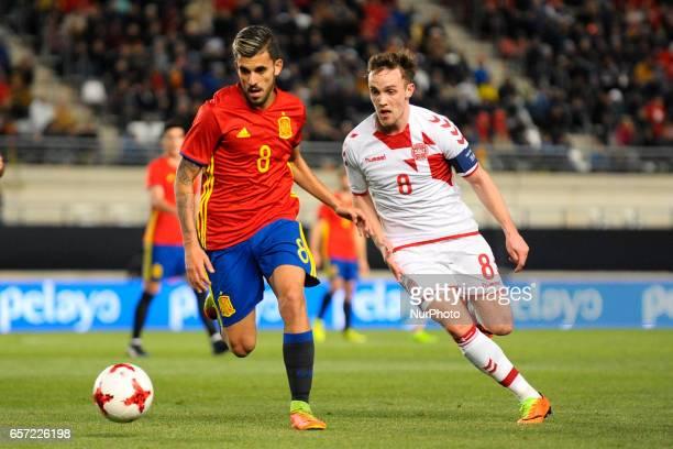 Christensen Dani Ceballos during the friendly match of national teams U21 of Spain vs Denmark in stadium Nueva Condomina Murcia SPAIN March 23rd 2017