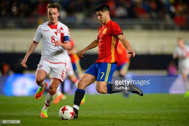 Christensen Marco Asensio during the friendly match of national teams U21 of Spain vs Denmark in stadium Nueva Condomina Murcia SPAIN March 23rd 2017