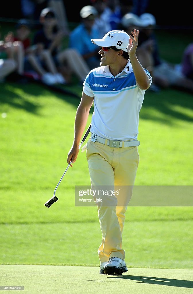 Christiaan Basson of france in action during the third round of the South African Open Championship at Glendower Golf Club on November 23, 2013 in Johannesburg, South Africa.