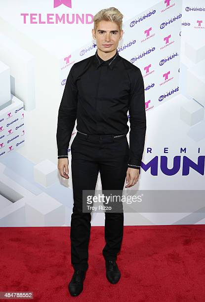 Christian Acosta attends Telemundo's 'Premios Tu Mundo Awards' 2015 at American Airlines Arena on August 20 2015 in Miami Florida