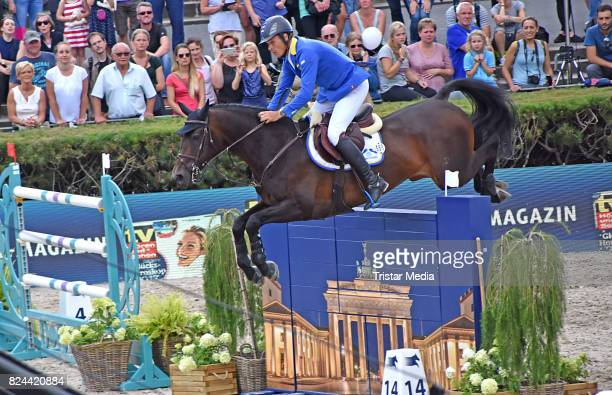 Christian Ahlmann during the Global Jumping at Longines Global Champions Tour at Sommergarten unter dem Funkturm on July 29 2017 in Berlin Germany
