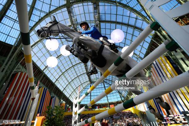 Christian Ahlmann of Germany on Aragon Z in action during the Grand Prix Hermes Final as part of the third day of the Grand Prix Hermes of Paris at...
