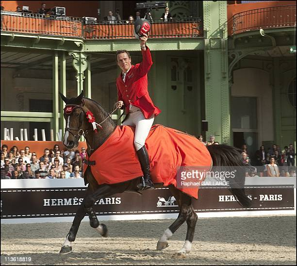 Christian Ahlmann of Germany on Taloubet during the Saut Hermes at the Grand Palais on April 17 2011 in ParisFrance