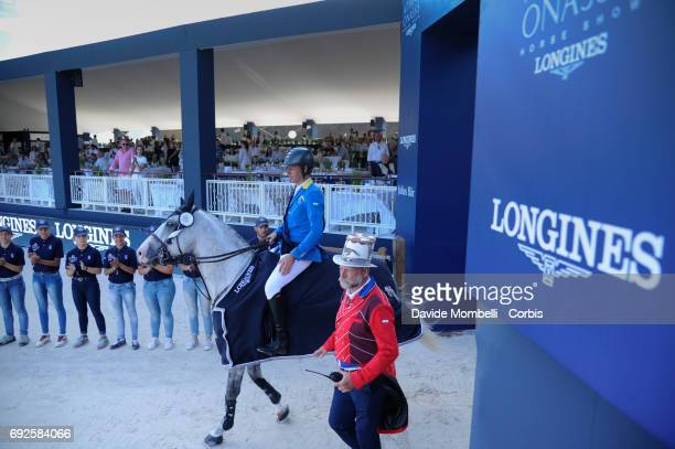 Christian Ahlmann of Germany riding Caribis Z during the Longines Grand Prix Athina Onassis Horse Show St Tropez on June 3 2017 in St Tropez France