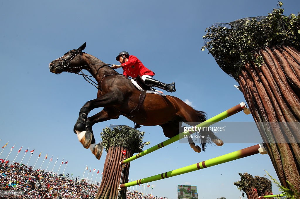 Christian Ahlmann of Germany riding Taloubet Z competes during the Equestrian Jumping Individual Final Round on Day 14 of the Rio 2016 Olympic Games at the Olympic Equestrian Centre on August 19, 2016 in Rio de Janeiro, Brazil.