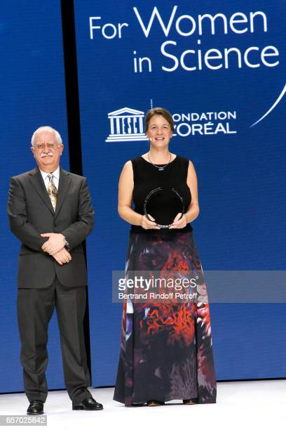 Christian Amatore and Laureate for AsiaPacific Professor Michelle Simmons attend the '2017 L'Oreal UNESCO for Women in Science' 19th Awards Ceremony...