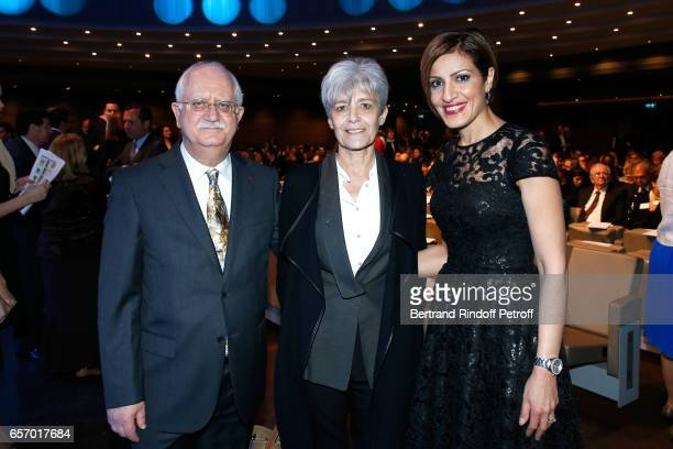 Christian Amatore Claudie Haignere and Doctor Tamara Elzein attend the '2017 L'Oreal UNESCO for Women in Science' 19th Awards Ceremony at Maison de...