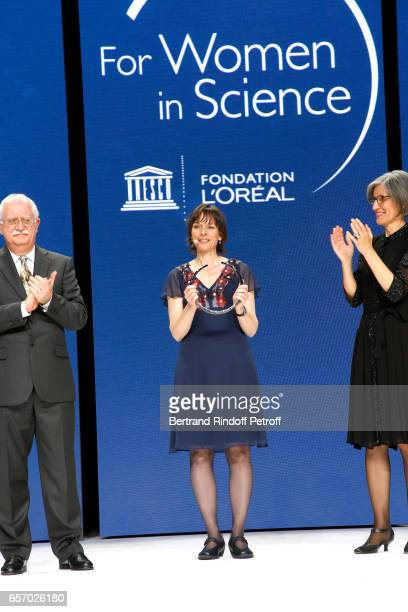 Christian Amatore Laureate for Europe Professor Nicola A Spaldin and Assistant DirectorGeneral for Natural Sciences Doctor Flavia Schlegl attend the...