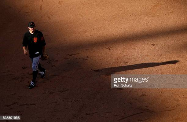 Christian Arroyo of the San Francisco Giants before a game against the Philadelphia Phillies at Citizens Bank Park on June 2 2017 in Philadelphia...