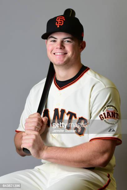 Christian Arroyo of the San Francisco Giants poses for a portrait during a MLB photo day at Scottsdale Stadium on February 20 2017 in Scottsdale...
