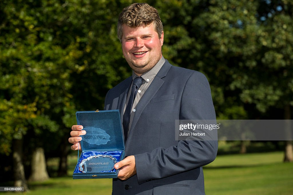 Christian Askins of Radyr Golf Club after winning The PGA ProCaptain South West Qualifier at Bowood Golf Course on August 23 2016 in Chippenham...