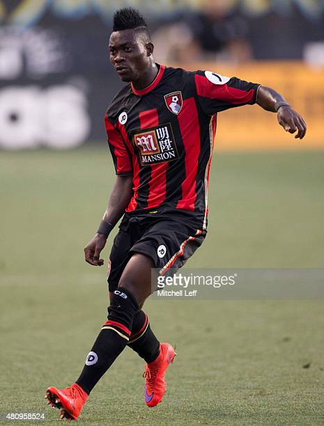 Christian Atsu of AFC Bournemouth plays in the friendly match against the Philadelphia Union on July 14 2015 at the PPL Park in Chester Pennsylvania
