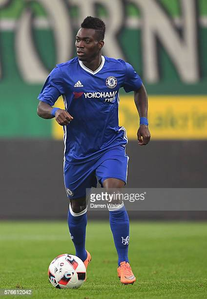 Christian Atsu of Chelsea in action during a friendly match between SK Rapid Vienna and Chelsea on July 16 2016 in Vienna Austria