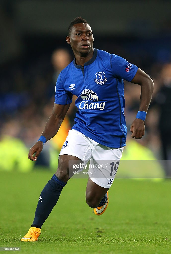 <a gi-track='captionPersonalityLinkClicked' href=/galleries/search?phrase=Christian+Atsu&family=editorial&specificpeople=8284773 ng-click='$event.stopPropagation()'>Christian Atsu</a> of Everton FC during the UEFA Europa League match between Everton FC and LOSC Lille at Goodison Park on November 6, 2014 in Liverpool, United Kingdom.