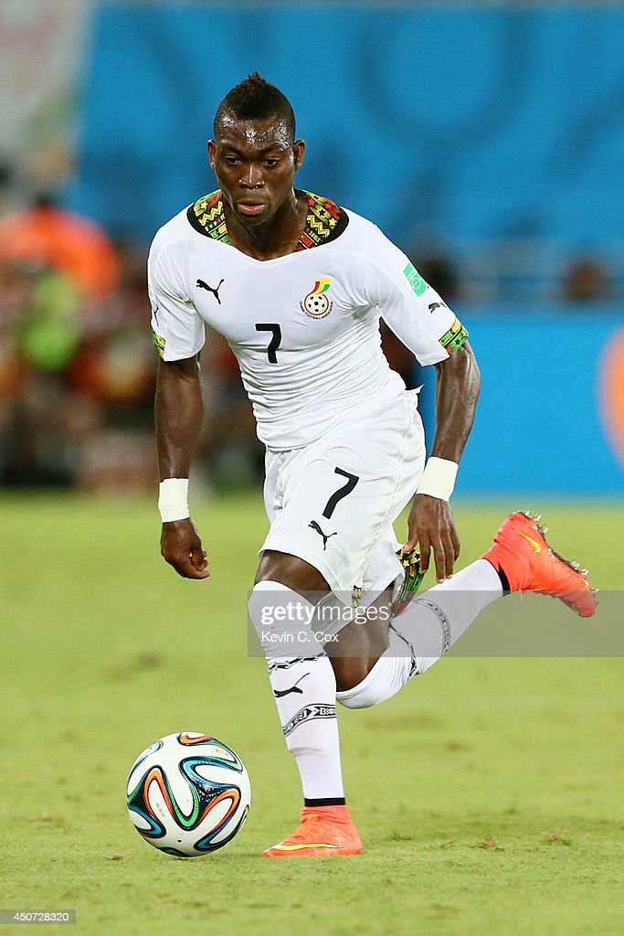Christian Atsu of Ghana controls the ball during the 2014 FIFA World Cup Brazil Group G match between Ghana and the United States at Estadio das Dunas on June 16, 2014 in Natal, Brazil.