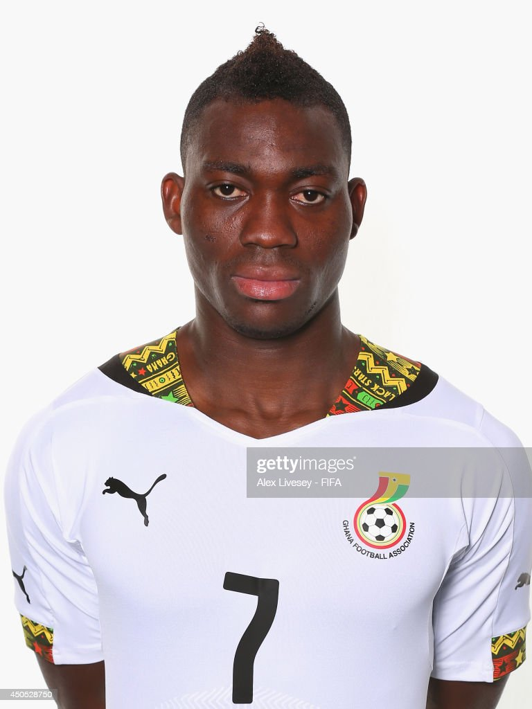 Christian Atsu of Ghana poses during the official FIFA World Cup 2014 portrait session on June 11, 2014 in Maceio, Brazil.